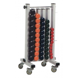STAND WITH WHEELS FOR VINILO DUMBBELLS