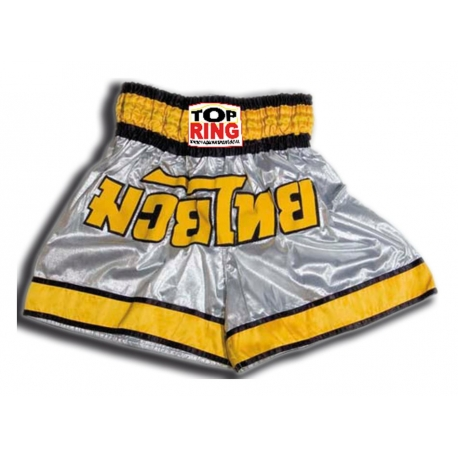 THAI SHORTS SILVER / YELLOW