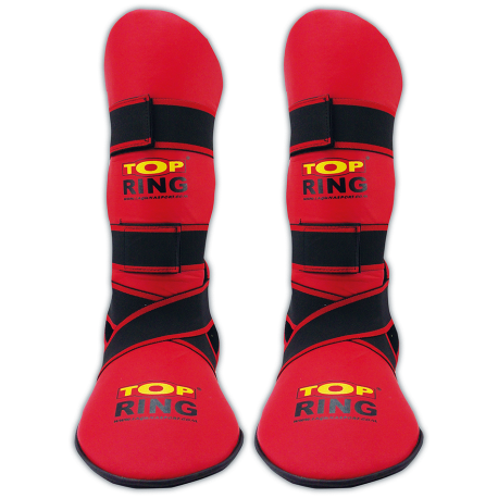 SHIN GUARD BOOR K1 KICK AND FULL RED