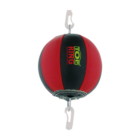 LEATHER PUNCHING BALL RED / BLACK