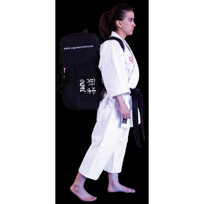 bolso mochila bordada con logos judo