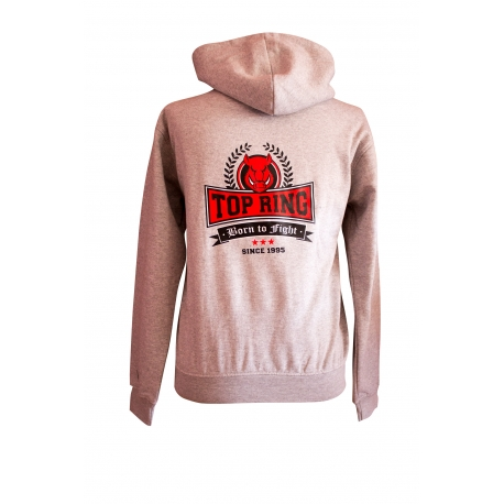 SUDADERA HAXBELTON TOP RING GRIS