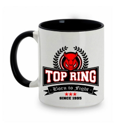 TAZA BLANCO/NEGRO TOP RING