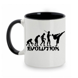 TAZA BLANCO/NEGRO EVOLUCION KARATE