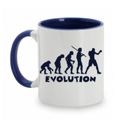 TAZA BLANCO/AZUL EVOLUTION BOXEO