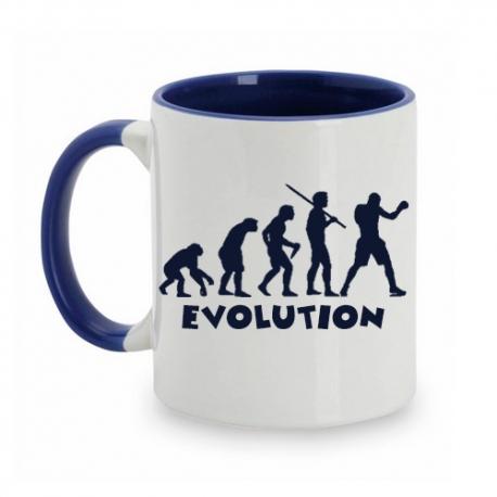 TAZA BLANCO/AZUL EVOLUTION BOXEO