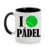 TAZA BLANCO/NEGRO I LOVE PÁDEL