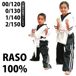 FULTEGUI RASO INFANTIL BLANCO/NEGRO