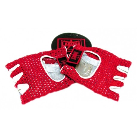 MESHED GLOVES RED