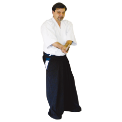 TRAINING BLACK HAKAMA IN COTTON