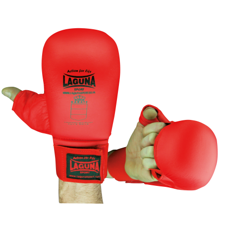 APPROVED RED MITTS WITH THUMB PROTECTION