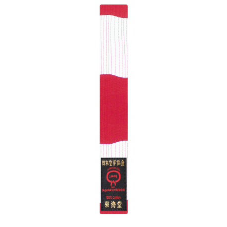 COTTON RED-WHITE BELT
