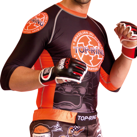 "Camiseta MMA ""TOP-RING ORANGE-SPIRIT"""