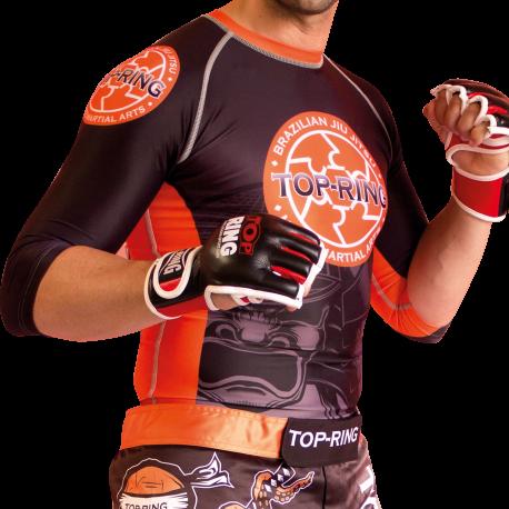 """Pantalón/Bermuda MMA """"TOP-RING ORANGE-SPIRIT"""""""