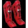 ESPINILLERA PROFESIONAL TOP RING K-1 ROJO