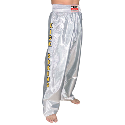 PANTALON FULL RASO METALICO PLATA
