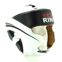 CASCO PIEL TOP-RING NEGRO BLANCO