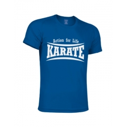 CAMISETA TECNICA AZUL ROYAL KARATE