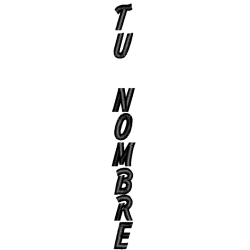 """BORDADO SOLAPA KIMONO NOMBRE ESPAÑOL """"Ind.Script"""""""
