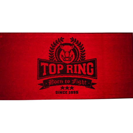 TOALLA TOP RING ROJO/NEGRO