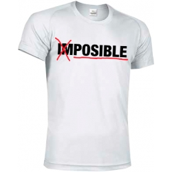 CAMISETA TECNICA POSIBLE- BLANCO