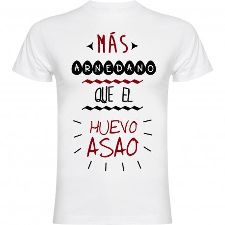 CAMISETA MÁS ARNEDANO QUE EL HUEVO ASAO / BLANCO