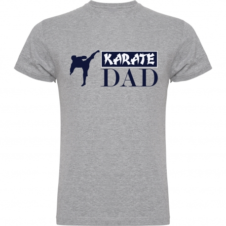 CAMISETA ALGODON GRIS KARATE DAD
