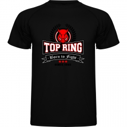CAMISETA TÉCNICA TOP RING NEGRO