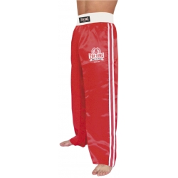 Pantalón Full Contact y Kick Boxing RASO ROJO/BLANCO