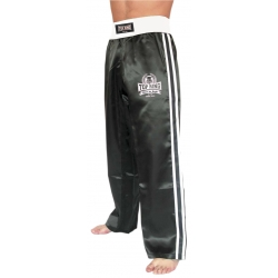 Pantalón Full Contact y Kick Boxing RASO NEGRO/BLANCO