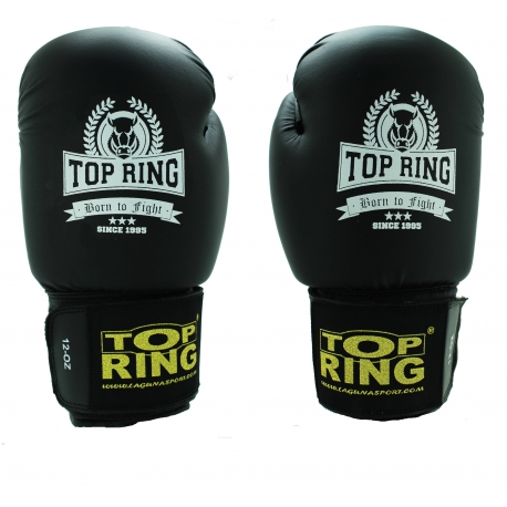 TRAINING PU BLACK GLOVE 12OZ