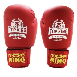 TRAINING PU RED GLOVE 12OZ