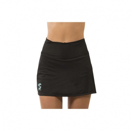 FALDA SOFTEE CLUB COLOR NEGRO/VIOLETA