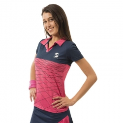 POLO PADEL SOFTEE BEAT COLOR ROSA/NAVY