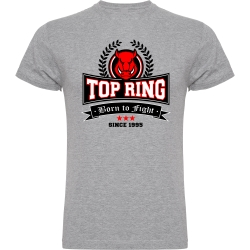 CAMISETA ALGODÓN TOP RING GRIS