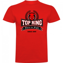 CAMISETA ALGODÓN TOP RING ROJO