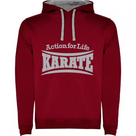 SUDADERA KARATE GRANATE